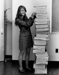 Margaret Hamilton, lead software engineer, Project Apollo